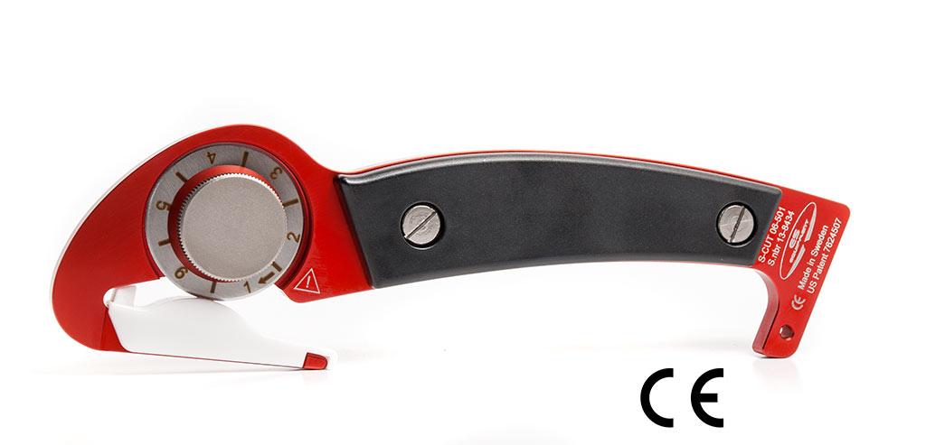 S-Cut 501, CE-märkt produkt godkänd för användning inom akutsjukvård och räddningstjänst.