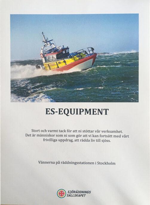 Vi är stolta över diplomet från Sjöräddningssällskapet.